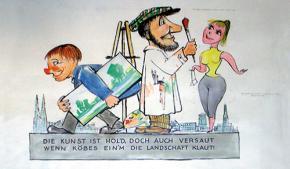 """""""Robert Schwarz- Rosenmontagszugentwürfe aus den 50er Jahren"""""""