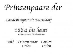 Prinzenpaare seit 1884 bis heute