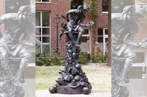 Das Hoppeditz-Denkmal auf dem Hoppeditz-Plätzken